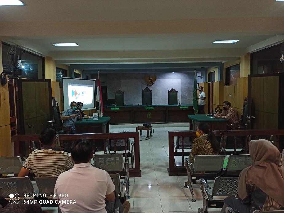Sosialisasi Fitur BRI BUKA REKENING oleh BRI Tanjungpandan di Pengadilan Negeri Tanjungpandan