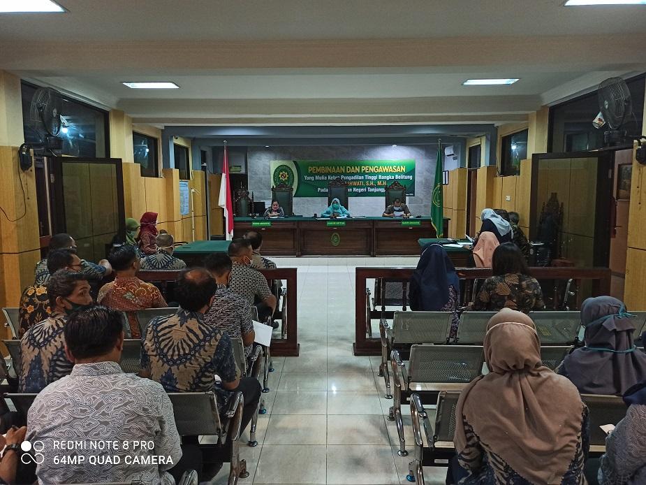 Kunjungan Ketua Pengadilan Tinggi Bangka Belitung dalam rangka Pembinaan dan Pengawasan Kinerja Pengadilan Negeri Tanjungpandan