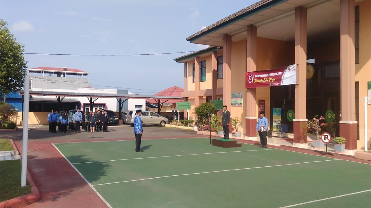 Upacara Memperingati Hari Sumpah Pemuda di Pengadilan Negeri Tanjungpandan