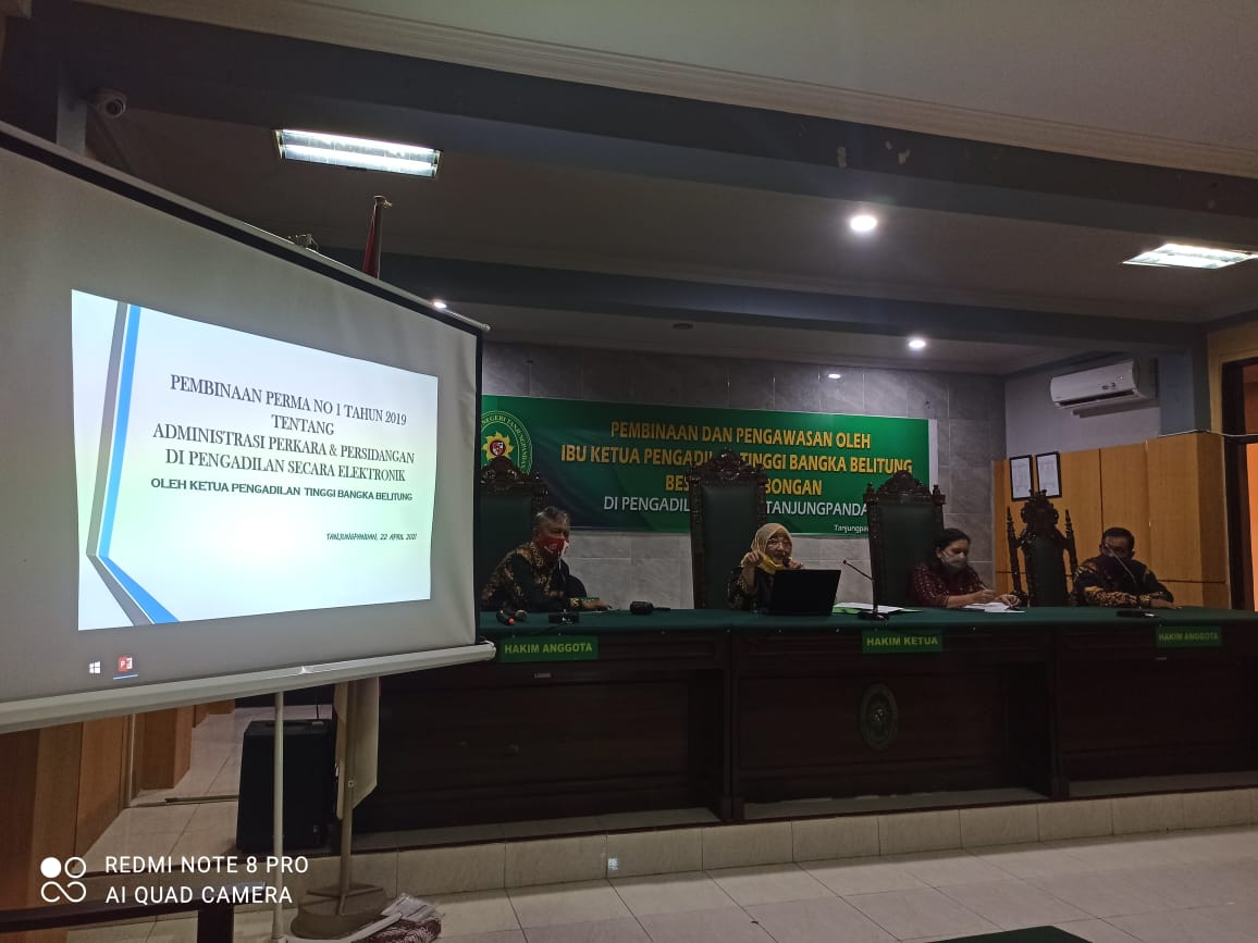 Pembinaan dan Pengawasan Pengadilan Tinggi Bangka Belitung Tahun 2021 di Pengadilan Negeri Tanjungpandan